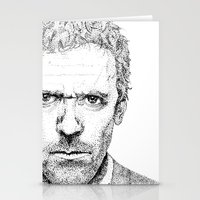 house md Stationery Cards featuring Hugh Laurie, House MD by Milicule