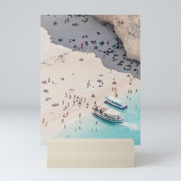 to the beach Mini Art Print
