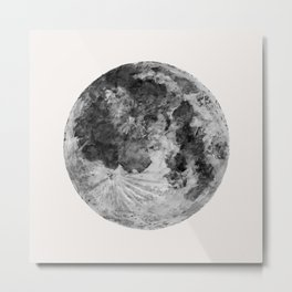 Watercolour Moon (Canvas) Metal Print