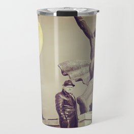The man in the long leather coat... Travel Mug