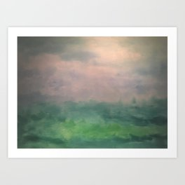 Valley of Dreams - Abstract nature Art Print