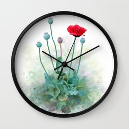 Poppy Wall Clock