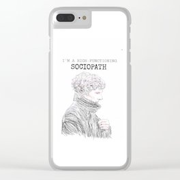 I'm a high functioning sociopath Clear iPhone Case