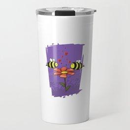 Bee Mine Valentine Travel Mug