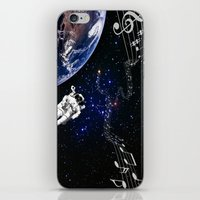 space jam iPhone & iPod Skins featuring It's a Space Jam by Allison M Peret-DeRosia