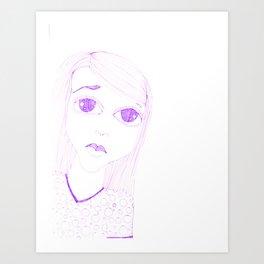 purple sadness1 Art Print
