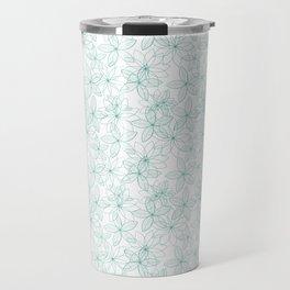 Floral Freeze White Travel Mug