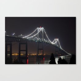 Newport Bridge RI Canvas Print
