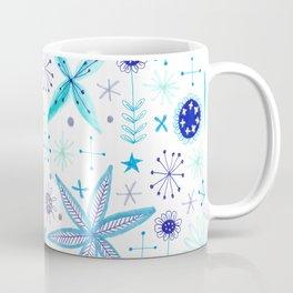 blue flower pattern Coffee Mug