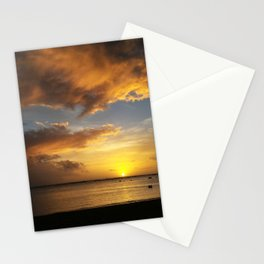 The Magic Minute when the Sun Dips the Water Stationery Cards