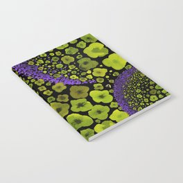 Paths of Color [green & purple] Notebook