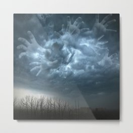Fantasma Mano Storm Clouds Metal Print