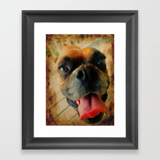 I Love You Man! Framed Art Print