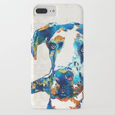 Great Dane Art - Stick With Me - By Sharon Cummings Slim Case iPhone 7 Plus