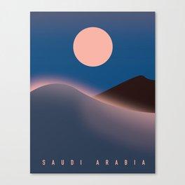 Saudi Arabia Travel poster, Canvas Print