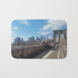Brooklyn Bridge View on Manhattan Bath Mat