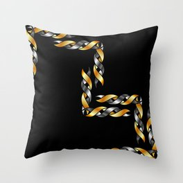 Twisted helix Throw Pillow