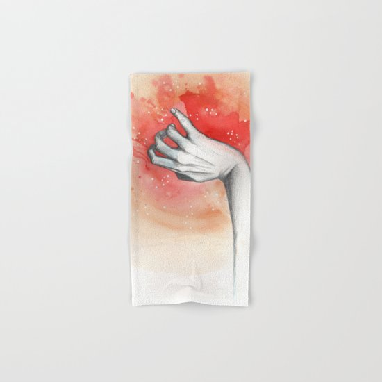 red hand magic Hand & Bath Towel