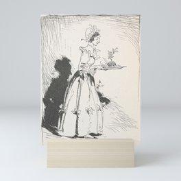 Arthur Rackham - Dickens' Christmas Carol (1915): Mrs Cratchit with Christmas Pudding Mini Art Print