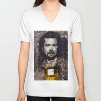 brad pitt V-neck T-shirts featuring The Pitt by Basma