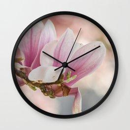 Makro_Magnolie_4 Wall Clock