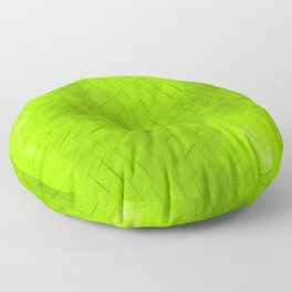 Line texture of green oblique dashes with a dark intersection on a luminous charcoal. Floor Pillow