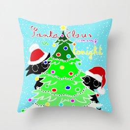 Santa Claus is coming tonight Throw Pillow