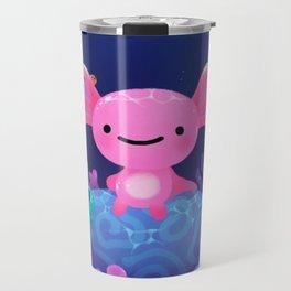 Coral axolotl Travel Mug