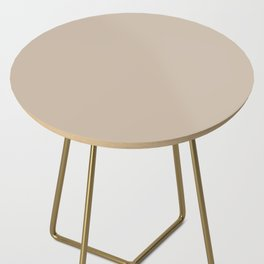 Sherwin Williams Trending Colors of 2019 Dhurrie Beige SW 7524 Solid Color Side Table
