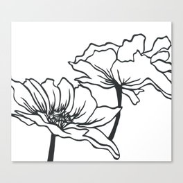 Paper-cut Poppy Canvas Print