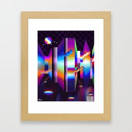 colorful labyrinth Framed Art Print