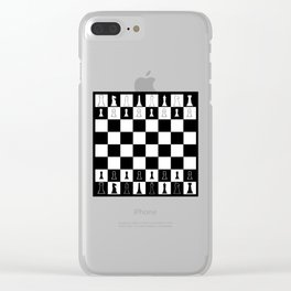 Chess Board Layout Clear iPhone Case