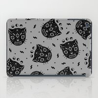 black cat iPad Cases featuring BLACK CAT by LordofMasks