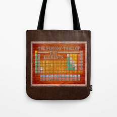 Vintage Industrial Periodic Table Of The Elements Tote Bag