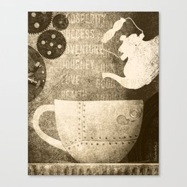 Tea and Tasseomancy, Sepia Canvas Print