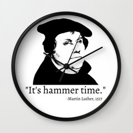 It's Hammer Time Wall Clock