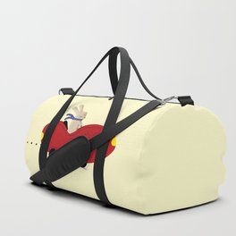 Rabbit and his car Duffle Bag