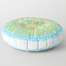 play outdoors mandala Floor Pillow