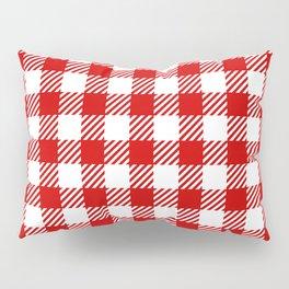 Red Vichy Pillow Sham