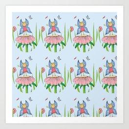 Gilly-Bean Flower Fairy pattern Art Print