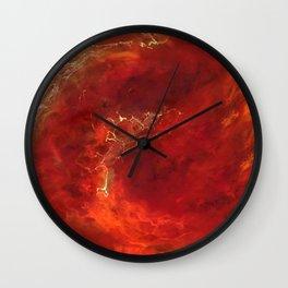 Royal Red Marble Wall Clock