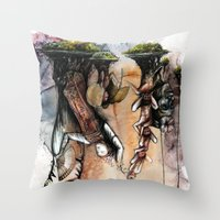 indonesia Throw Pillows featuring Indonesia by Andreas Derebucha