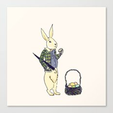 A late easter bunny Canvas Print