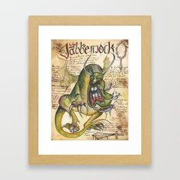 Jabberwock from the Field Guide to Dragons Framed Art Print
