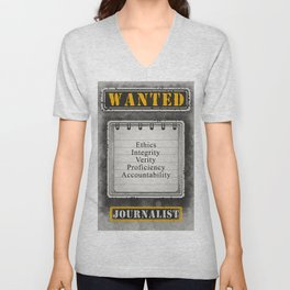 Wanted Journalist Poster Unisex V-Neck