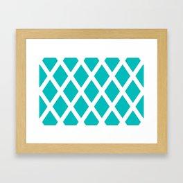 Turquoise Diamonds Framed Art Print