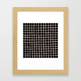 Strokes Grid - Nude on Black Framed Art Print