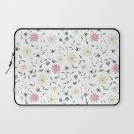 Floral Bee Print Laptop Sleeve