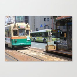 Trams of Hiroshima Canvas Print