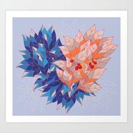 LEAVES HEART Art Print